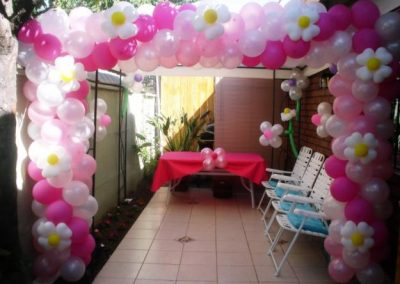 Decoración y globos